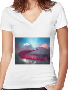 Pulling G over Scarborough Women's Fitted V-Neck T-Shirt