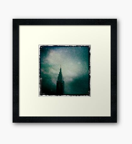 Downtown Downpour Framed Print
