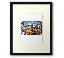 Picadilly Bigheads (London) Framed Print