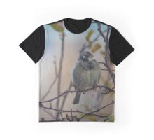 Passer Domesticus - Eye Contact With A Male House Sparrow | New York City, New York Graphic T-Shirt