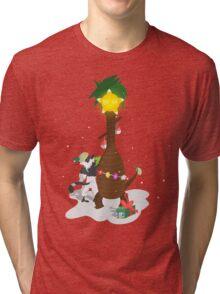 Alolan Christmas - Pokemon SUN and MOON Shirt Design Tri-blend T-Shirt