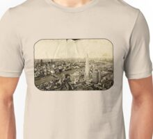 London From Above - Sepia Unisex T-Shirt