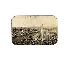 London From Above - Sepia Photographic Print