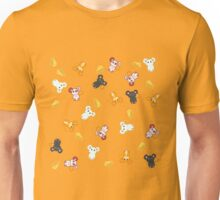 Cute Mice And Cheese Pattern Unisex T-Shirt