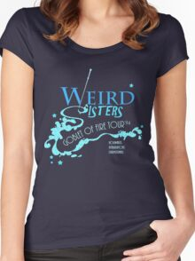 The Weird Sisters Goblet of Fire Tour '94 blue Women's Fitted Scoop T-Shirt