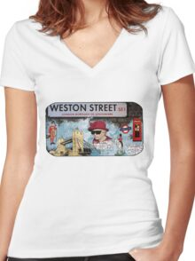 London Homeage Women's Fitted V-Neck T-Shirt