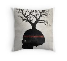 Fragility - True Detective Poster Throw Pillow