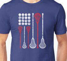 USA Lacrosse American Flag Unisex T-Shirt