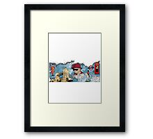 London Homage Splat! Framed Print