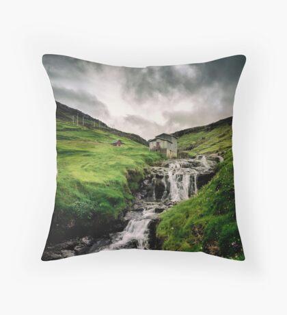 Haldarsvik Mist Throw Pillow
