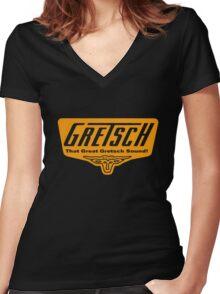 Gretsch Vintage Logo Women's Fitted V-Neck T-Shirt