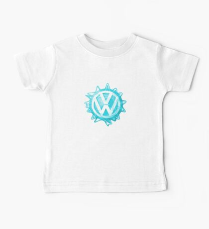 Aqua-blue VW look-a-like Swirl Baby Tee