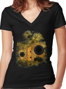 laputa: castle in the sky robot guardian Women's Fitted V-Neck T-Shirt