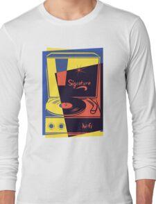 Vintage Vinyl Turntable Long Sleeve T-Shirt
