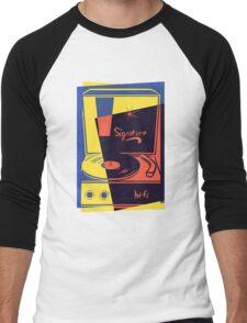 Vintage Vinyl Turntable Men's Baseball ¾ T-Shirt