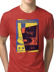 Vintage Vinyl Turntable Tri-blend T-Shirt