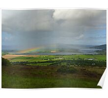 Rainbow over Inch Island Poster