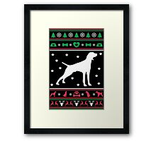 Pointer Ugly Christmas Sweater Framed Print