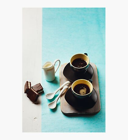 Two Cups of Espresso Photographic Print