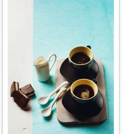 Two Cups of Espresso Sticker