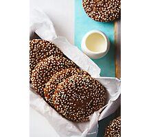 Fresh Chocolate Crispy Cookies with Sesame Photographic Print