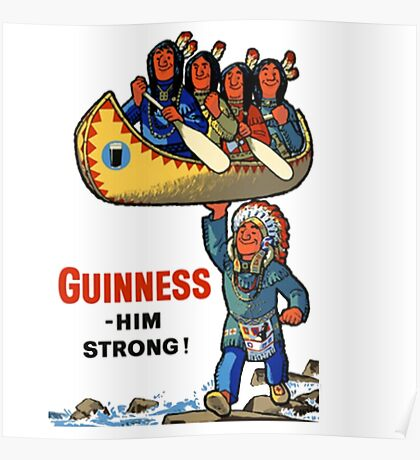 Guinness Native American Ad Poster