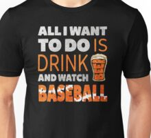 BASEBALL - DRINK BEER Unisex T-Shirt