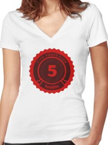 5 Posts Club Tumblr Women's Fitted V-Neck T-Shirt