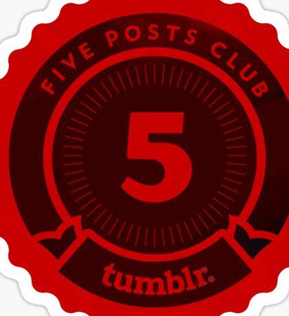 5 Posts Club Tumblr Sticker