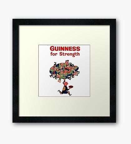 Guinness Vintage Rugby Ad Framed Print