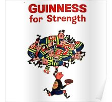 Guinness Vintage Rugby Ad Poster