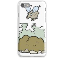 cartoon fly and manure iPhone Case/Skin