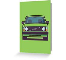 Volvo 240 (Lime) Greeting Card