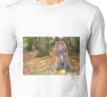 Cockapoo with Autumn Leaves in Woods Unisex T-Shirt