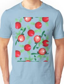 Watercolor seamless pattern. Cranberries. Unisex T-Shirt