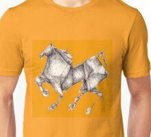 Orange Origami Horse Unisex T-Shirt