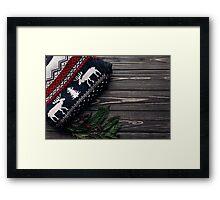 Christmas winter design Framed Print