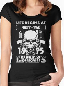 1975 the birth of legends xmas shirt Women's Fitted Scoop T-Shirt