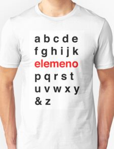Little Kid Alphabet. Unisex T-Shirt