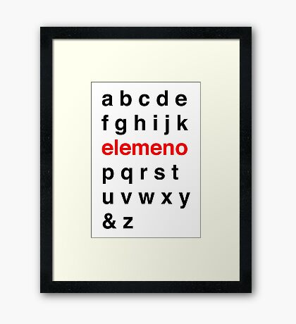 Little Kid Alphabet. Framed Print