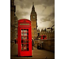 Westminster Phone Box Photographic Print