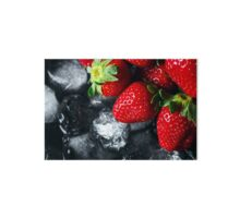 Ripe strawberry on ice Gallery Board
