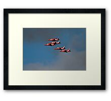 Red arrows 5 Ship Framed Print
