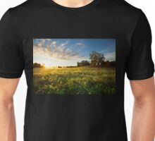 Tranquil grassland and trees at sunrise Unisex T-Shirt