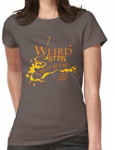 The Weird Sisters Goblet of Fire Tour '94 yellow Womens Fitted T-Shirt