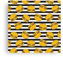 Burger Stripes by Everett Co Canvas Print
