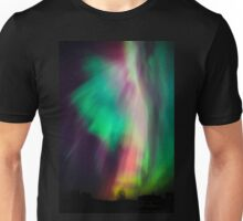 Beautiful multicolored northern lights in Finland Unisex T-Shirt