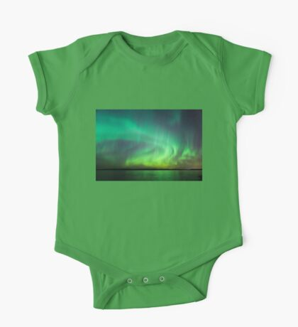 Northern lights over lake in Finland One Piece - Short Sleeve