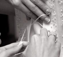 Bridal wedding dress buttons Sticker
