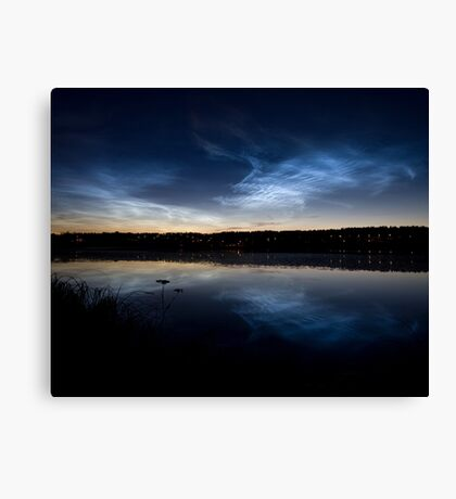 Noctilucent clouds Canvas Print